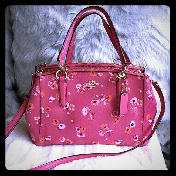 Coach Bags Hot Pink Floral Mini Satchel Purse Like New Poshmark